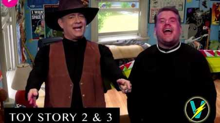 Tom Hanks James Corden Late Late Show Reenact Films