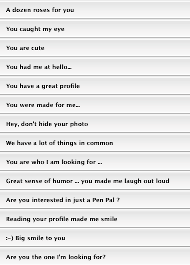 Worst dating profile lines