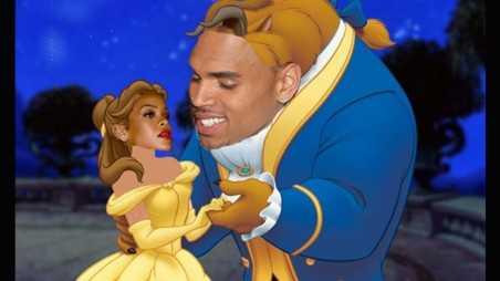 rihanna chris brown beauty and the beast