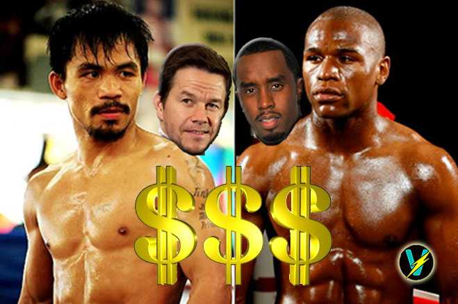 Mark Wahlberg Diddy Bet Mayweather Pacquaio Fight
