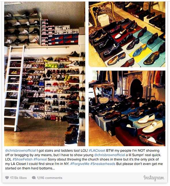 Nick Cannon Beats Chris Brown In Shoe Hoarding Contest
