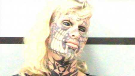 Tattooed Transsexual Poses For Most Terrifying Mugshot EVER