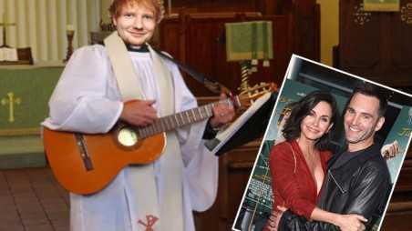 Ed Sheeran Ordained To Marry Courteney Cox And Johnny McDaid