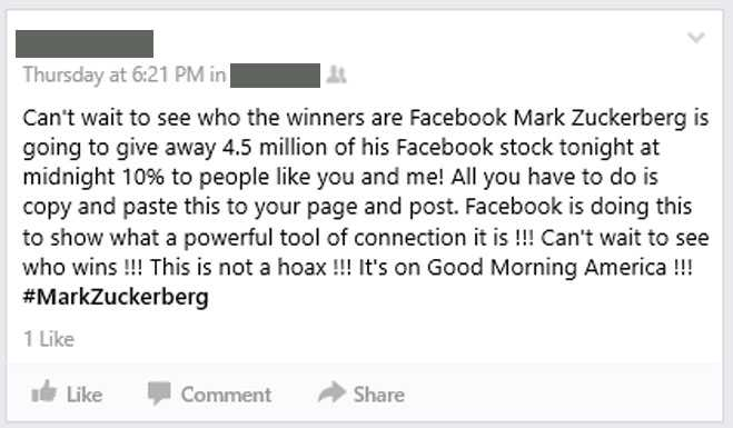Good Morning America Zuckerberg Give Away : Have you been caught out by a facebook myth popdust