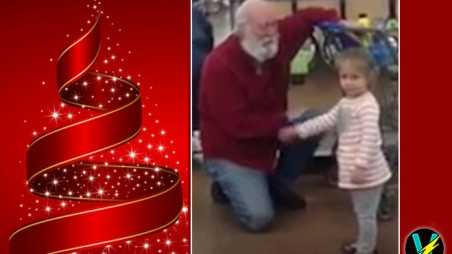 Girl Mistakes Bearded Man For Santa