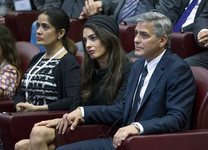 Amal Clooney Takes A Break From Shopping To Meet The Pope